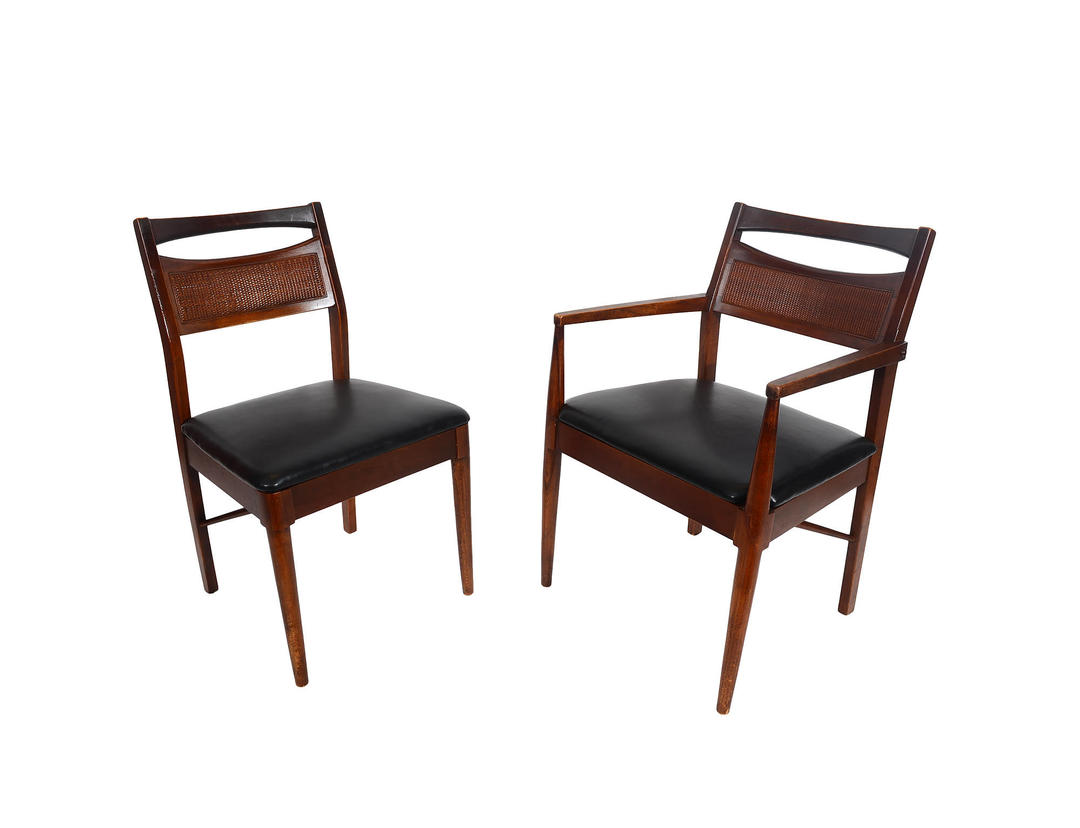 Walnut Dining Chairs Set Of Six American Of Martinsville