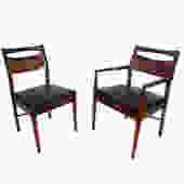 Walnut Dining Chairs Set of Six American of Martinsville Mid Century Modern by HearthsideHome
