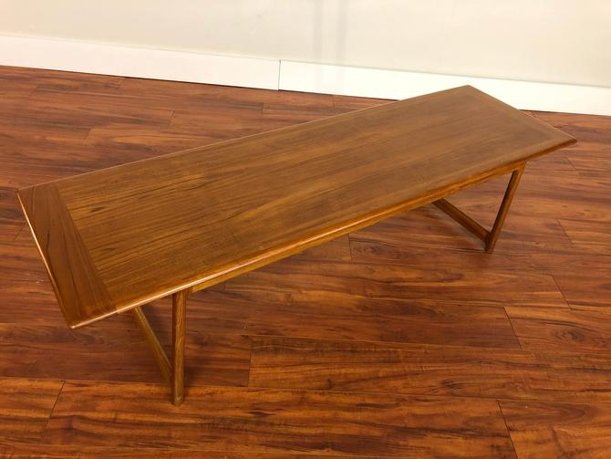 Mid Century Large Teak Coffee Table by Rasmus Soberg for S Mobler, Made in Norway by Vintagefurnitureetc