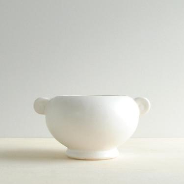 Vintage White Pottery Vase or Plant Pot, Floraline USA #452 Pottery Vase, Floraline McCoy Vase from the 1950s by LittleDogVintage
