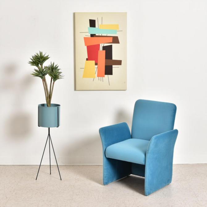 1970's Sky Blue Vintage Armchair