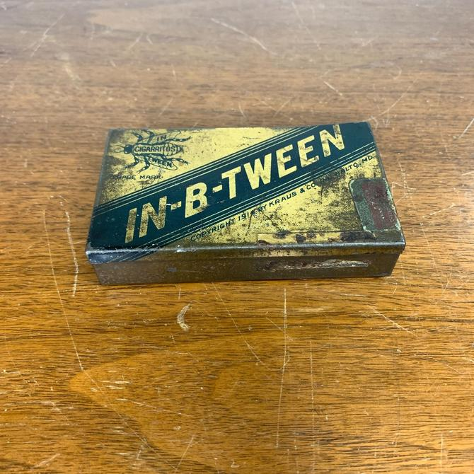 Antique In-B-Tween Cigarette Tin Tobacco Tin Baltimore MD Cigarritos Tin by OverTheYearsFinds