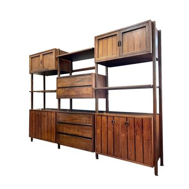 Rare Mid Century Wall Unit by Stanley by FlipAtik