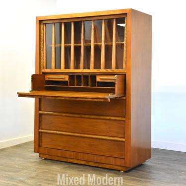 Walnut Dresser Desk By T.H. Robsjohn Gibbings by mixedmodern1