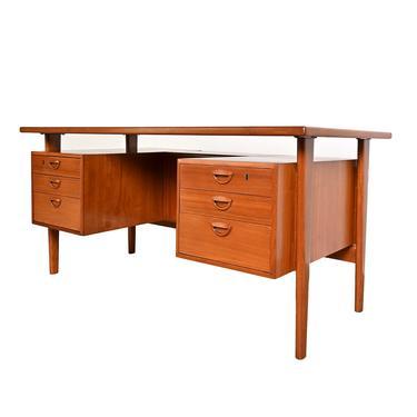 Teak Floating Top Desk by Kai Kristiansen Feldballes Møbelfabrik Danish Modern by HearthsideHome