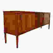 Danish Modern Rosewood Sliding Door Room Divider \/ Sideboard
