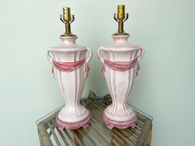 Pair of Swag Urn Lamps
