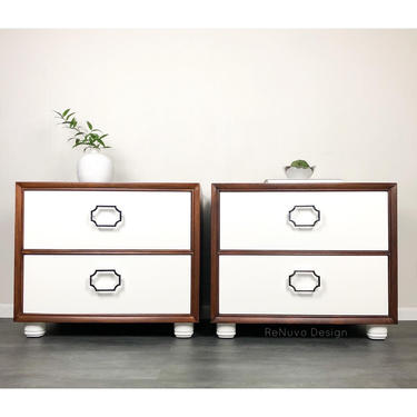 Mid Century Bedside Tables by ReNuvoDesign