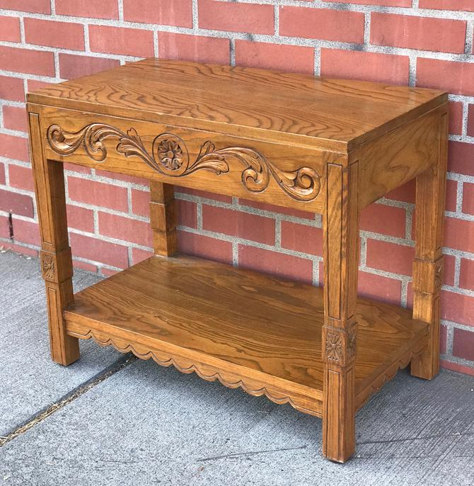 Vintage Folkart Table Stand by BigWhaleConsignment