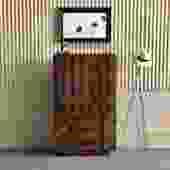 Brutalist Mosaic Tallboy Dresser / Armoire by Lane