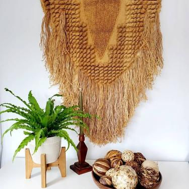Vintage 1988 ICA Woven Fiber Art Wall Hanging by pennyportland