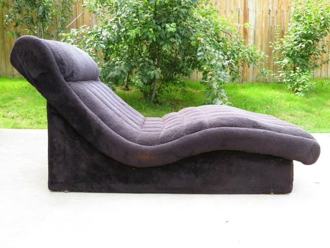 VTG 1973 Mid Century MOD WAVE CHAISE LOUNGE CHAIR Daybed ADRIAN PEARSALL Retro