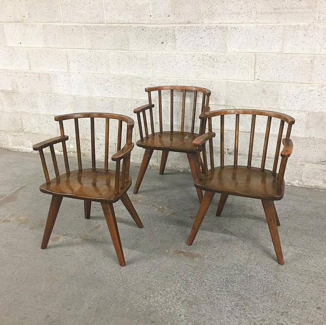 LOCAL PICKUP ONLY ———— Vintage Barrel Chairs by RetrospectVintage215