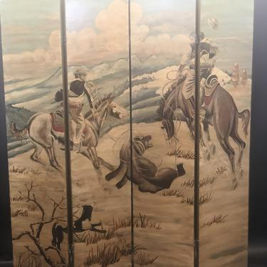 Neiman Marcus 4-Panel Divider By Fornasetti | Hand Painted | Room Divider