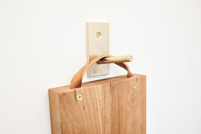 Brass Wall Hook Solid Matte Finish by dylangrey