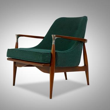 Mid Century Modern Walnut Framed Lounge Chair, Circa 1960s - *Please ask for a shipping quote before you buy. by CoolCatVintagePA