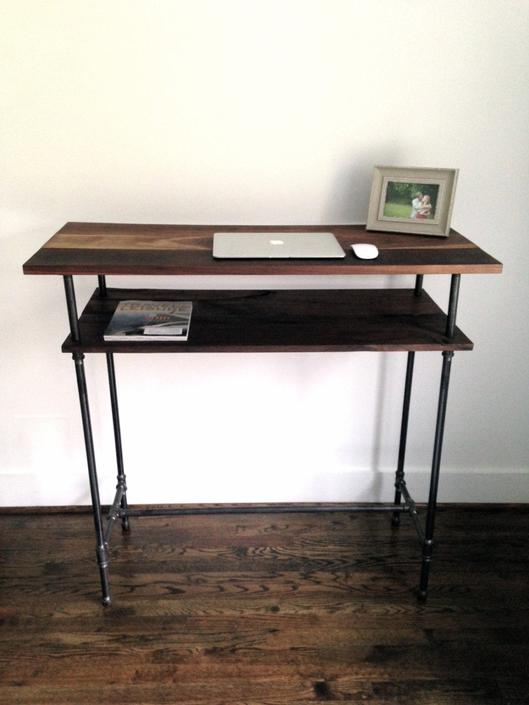 "The ""Huxley"" Standing Desk - Reclaimed Wood & Pipe - Standing Desk - Custom Height by arcandtimber"