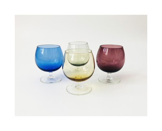 Vintage Colourful Cordials  / Set of 4 by SergeantSailor