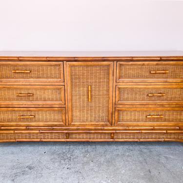 Island Chic Bamboo and Rattan Dresser