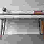 "Bloom Desk 48"" - Solid Cherry - Teak Stain - White Drawers - DEPOSIT INVOICE by STORnewyork"