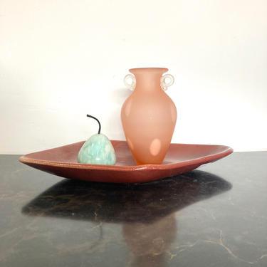 Dark Coral Ceramic Dish