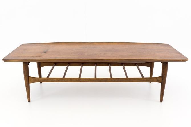 Bassett Danish Modern Style Surfboard Coffee Table - mcm by ModernHill