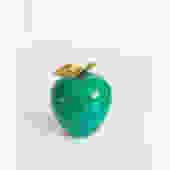 Vintage Stone Apple with Brass Stem by SergeantSailor