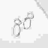 Dangle and Oval Komu Earrings