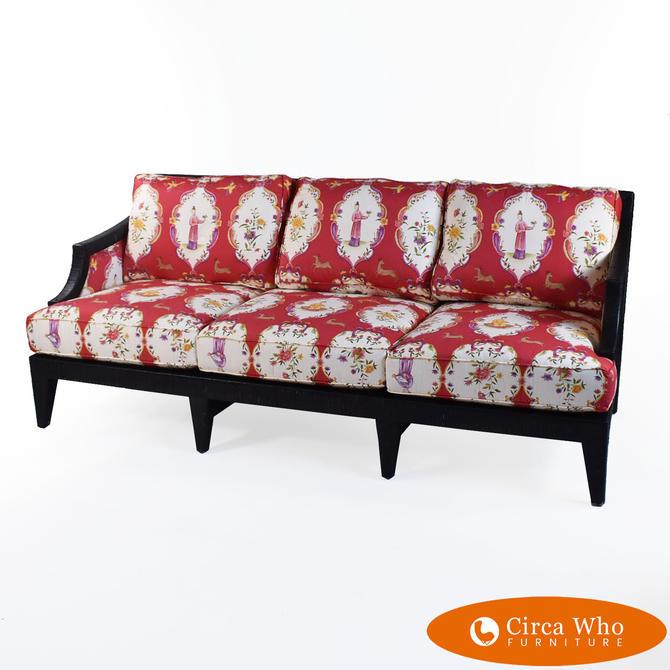 Wrapped Rattan Sofa