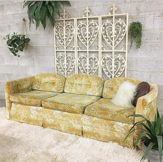 LOCAL PICKUP ONLY ------------ Vintage Velvet Couch by RetrospectVintage215