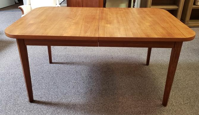 Item #U14 Danish Modern Extending Teak Dining Table c.1960
