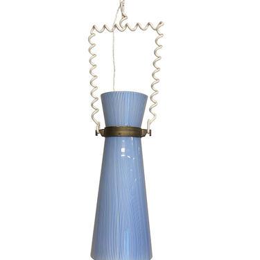 Venini Blue and White Pendant