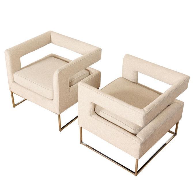Pair Milo Baughman Club Chairs