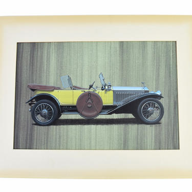 Bob Rector Automobile Illustration Painting 1920's Rolls Royce? by PrairielandArt