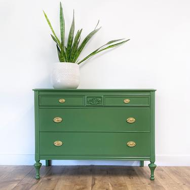 AVAILABLE - Vintage Green Dresser by JulieSimpleRedesign