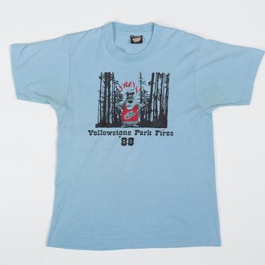 """80s """"Shit Happens"""" Yellowstone Park Fires T Shirt - Men's XS, Women's Small 