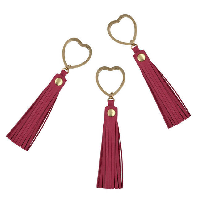 Heart Key Ring by Sarah Cecelia Pink Tassel Key Ring by SarahCecelia