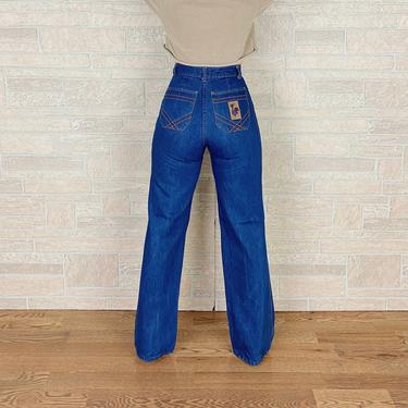 70's High Rise Wide Leg Bell Jeans / Size 25 by NoteworthyGarments