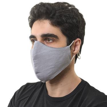 Light gray linen face masks, Reversible face masks for wedding, Large face masks for men, Minimal dressy face masks adjustable, Formal masks by APattesDeVelours
