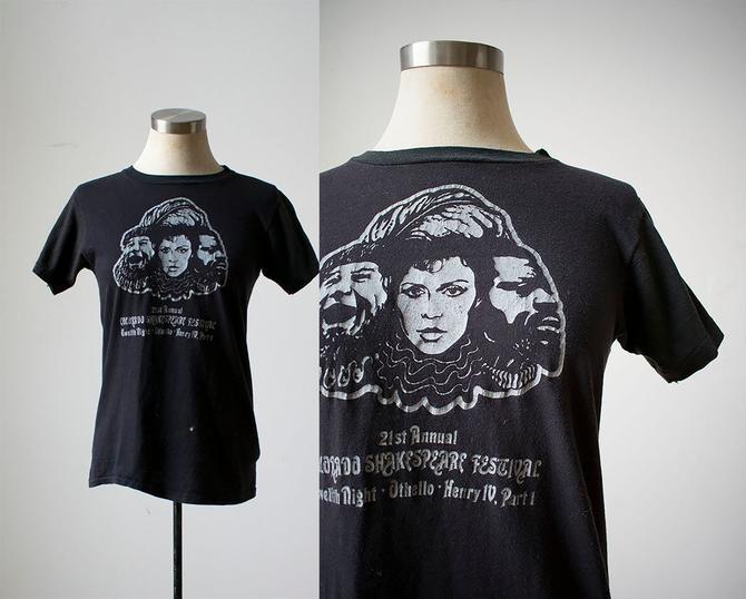 Vintage 1970s Tshirt / 1970s Shakespeare Festival Tshirt / Vintage Colorado Tshirt / Colorado Shakespeare Festival Tee / Retro Tshirt by milkandice