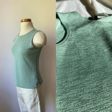Sage Green Textured Tank by DiscoLaundryVintage