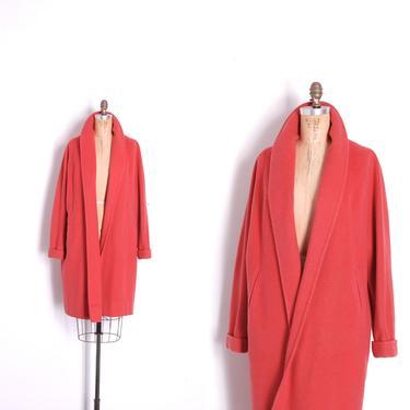 Vintage 1950s Coat / 50s Wool Swing Clutch Coat / Coral ( S M L ) by lapoubellevintage