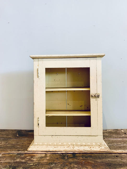 Large Yellow Medicine Cabinet | Small Yellow Cupboard | Yellow Curio Shelf | Vintage Wood Cabinet | Bathroom Cabinet | Bathroom Storage by PiccadillyPrairie