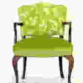 Green embroidered occasional chair by WildChairy