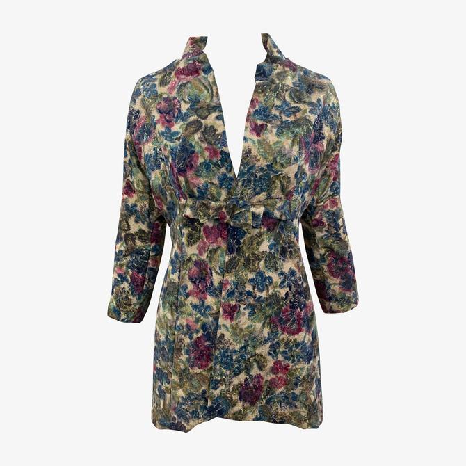 Arnold Scaasi 60s Attribution Luxe Brocade Metallic Evening Jacket