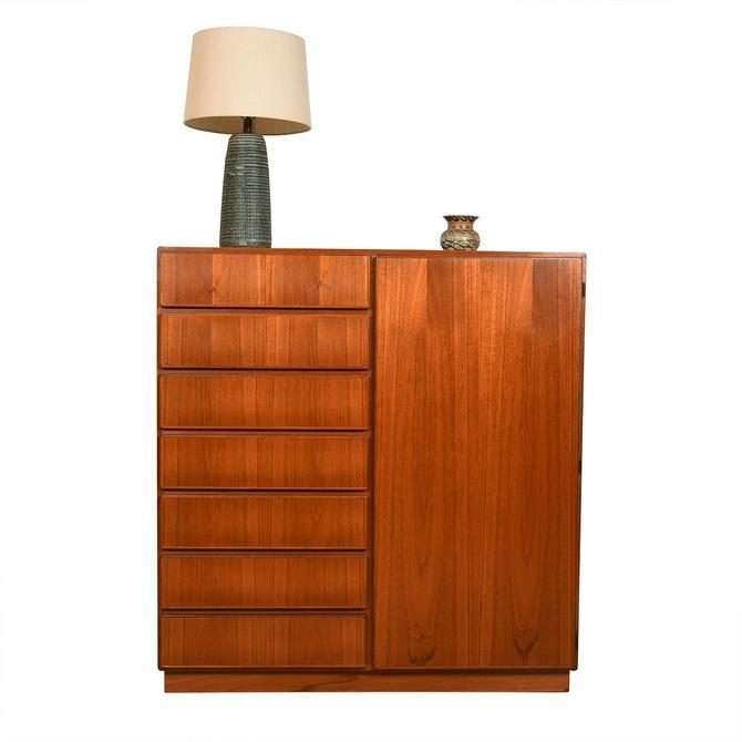 KOMFORT Danish Teak Storage Gents Chest / Dresser