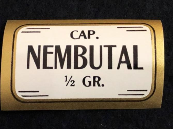 1920's Un Used Apothecary Label Nembutal 1/2 gram Barbiturate Drug Downer