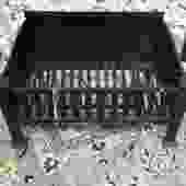 Vintage Fireplace Grate Coal Basket
