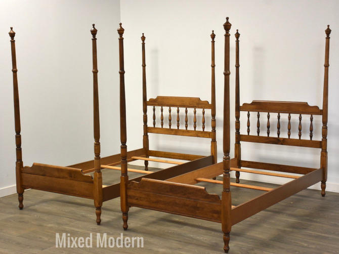 Heywood Wakefield Maple Twin Beds - A Pair by mixedmodern1