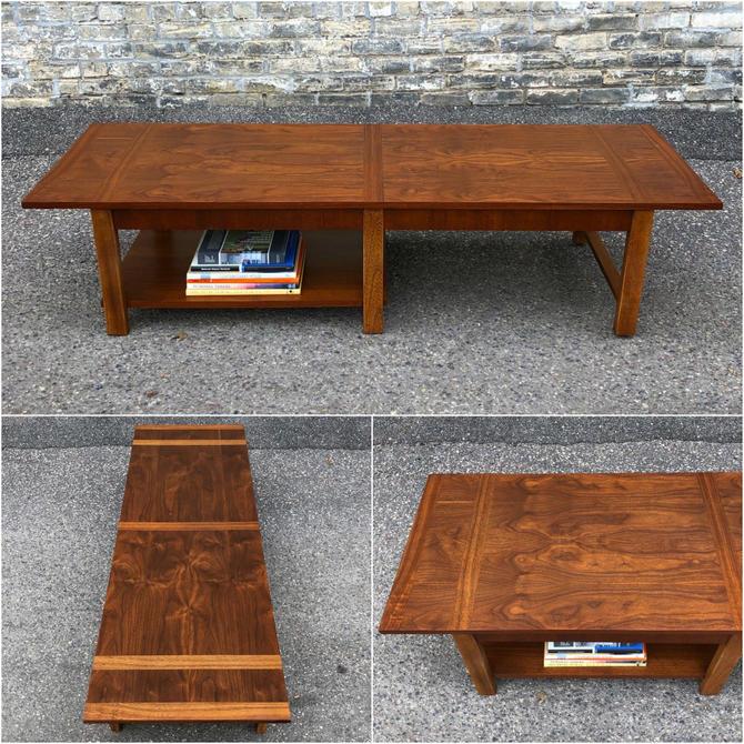 Two-tier Walnut Coffee Table